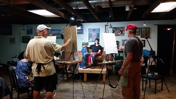 Artists, Painters, Model, Paint, Artistic, Drawing