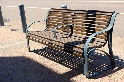 Bench, Sidewalk, Chair, Seat, Outdoor, City, Street