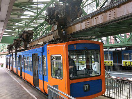Schwebebahn, Wuppertal, 17, Technology, Blue-orange