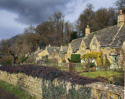 Cotswold, Building, Houses, English, Countryside