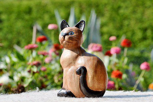 Cat, Wood Cat, Deco, Decoration, Bird, Decorative, Wood