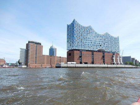 Port Of Hamburg, Port City, Elbe Philharmonic Hall