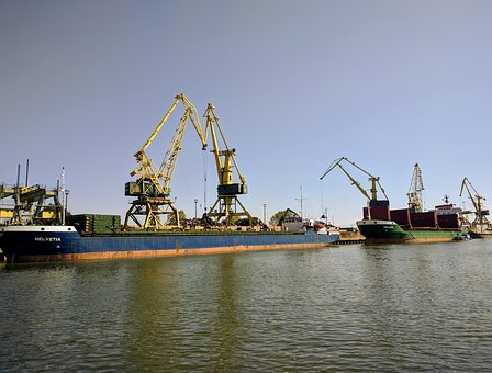 Port, Danube, Galati, Harbor, Transportation, River