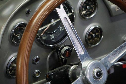 Oldtimer, Instruments, Classic, Wood, Automotive