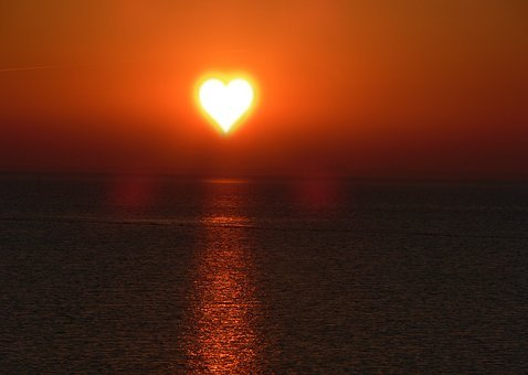 Background, Texture, Sun, Heart, Love, Heart Shape