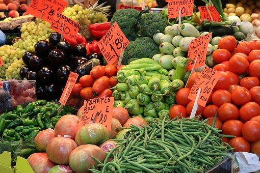 Vegetables, Market Hall, Palma, Palma De Mallorca