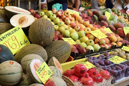 Fruit, Market Hall, Palma, Palma De Mallorca, Market
