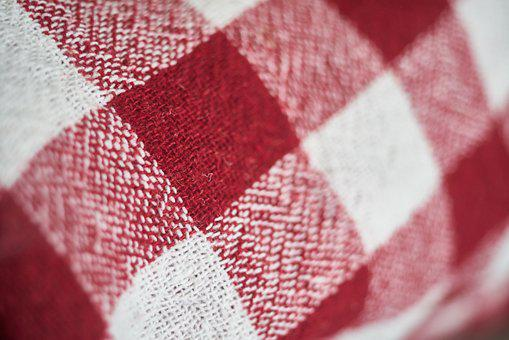 Cover, Plaid, Red, Pattern, Towel, Fabric, Textile
