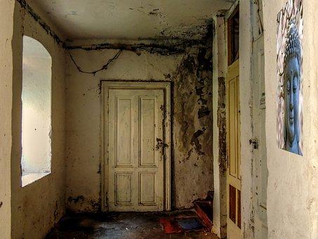 Hall, Door, Krot, Shack, Poverty, Old Door, Old House