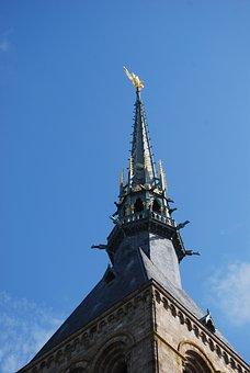 Sea, Tourism, Holiday, Mont Saint Michel, Side, France