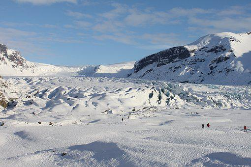 Iceland, Winter, Snow, Glacier