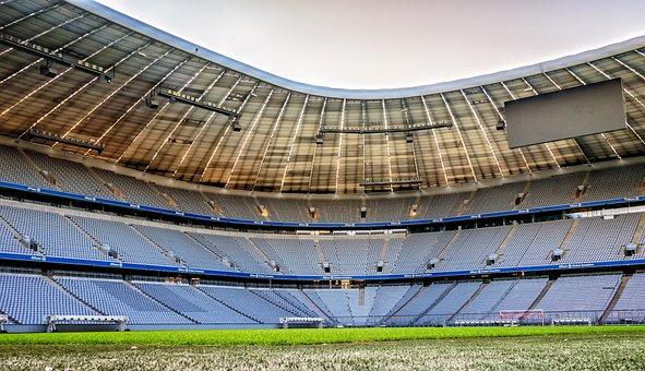 Arena, Stadium, Football, Rush, Allianz Arena
