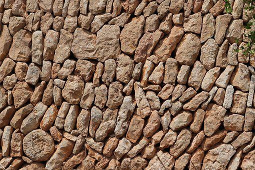 Mallorca, Stone Wall, Background, Stones, Drywall