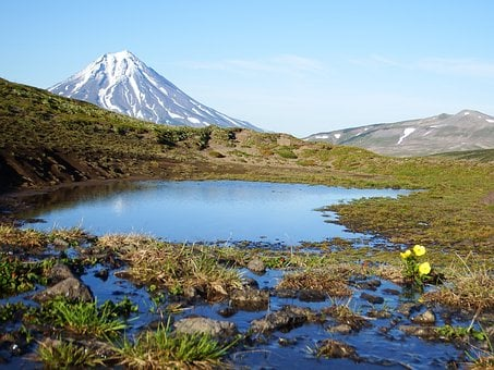 The Viluchinsky Volcano, Mountain Plateau, Kamchatka