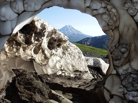 Snow Cave, Volcano, The Melting Of The Snow, The Snow