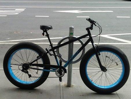 Bicycle, Street Bike, Rubber Tires, Bike Parking