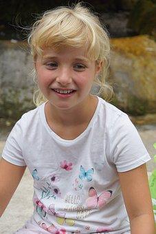 Girl, Child, Face, Pretty, Cute, Laugh, Blond, Blonde