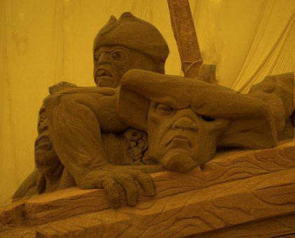 Sandy Figures, Competitions, Artists, Hobbyists, Sand