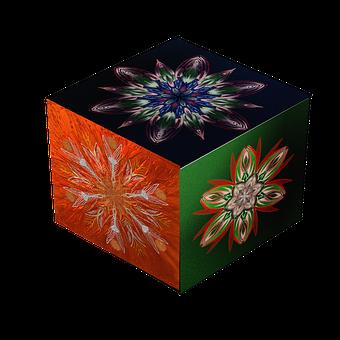 Mandala, Cube, Square, Cube Shape, Structure, Red