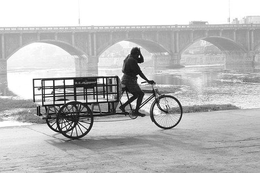 Cart, India, Asia, Asian, Traditional, Culture, Design