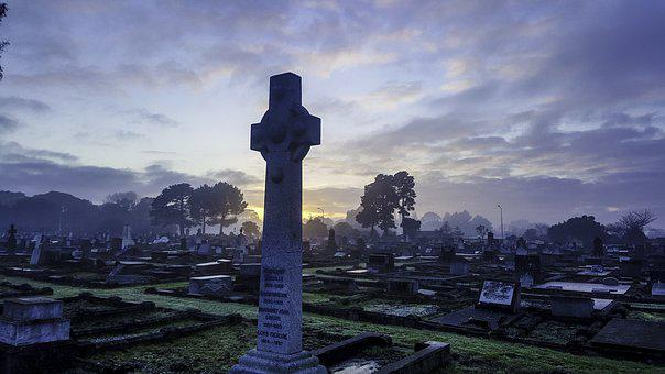 New Zealand, Cross, Cemetry, Dark Sky