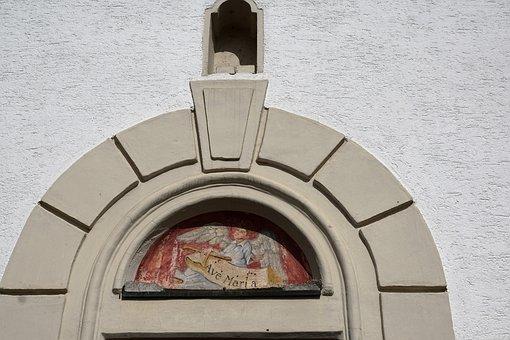 Chapel, Door, Nendingen, Tuttlingen, God, Faith, Wall