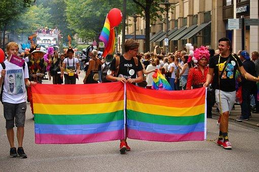 Csd, Parade, Show Me, Rainbow, Demonstration, Hamburg