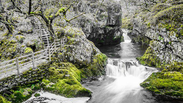 Green, Long Exposure, Ingleton, Waterfall, Walk