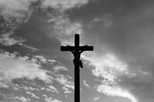 Cross, Jesus Christ, Photo Black White