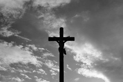 Cross, Jesus Christ, Photo Black White