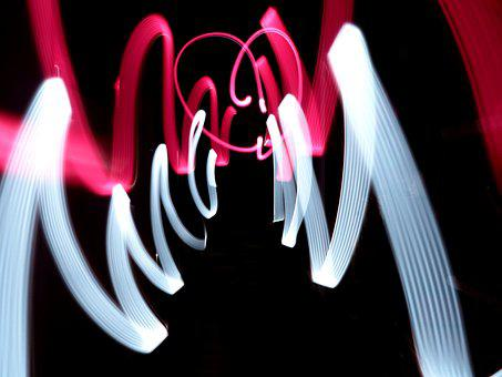 Lightpainting, Light, Paint, Lights, Red, Mood, Line