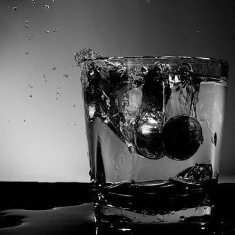 Coins, Monochrome, Water, Luxury, Money, Whisky Tumbler