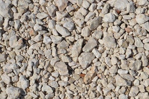 Gravel, White Rocks, Stone, Pebble, Material, Nature