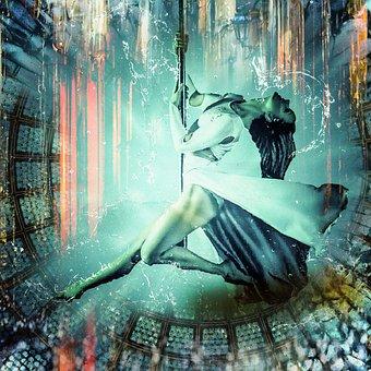 Flight, Dance, Girl, Model, Dark, Soar, Woman