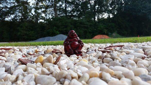 Buddha, Figurine, Statue, Rocks, Buddhism, Religion