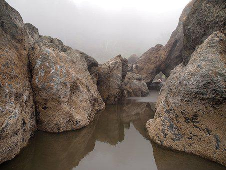 Reflection, Water, Stones, Rock, Travel, Natural, Wet