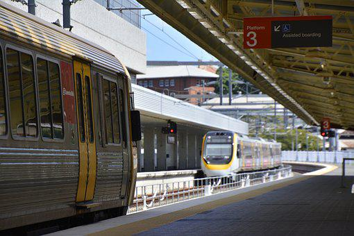 Brisbane, Train, Travel, Australia, Road, Railway