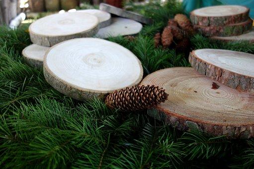 Wood, Pine Cone, Cones, Decoration, Green, Tree