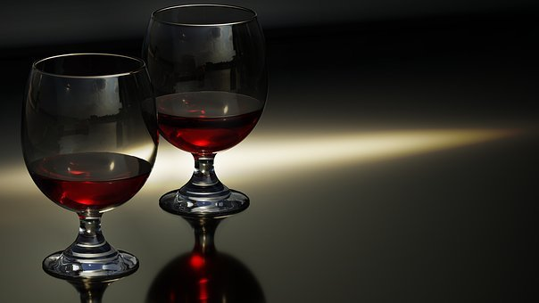 Glass, Wine, Wine Glasses, Evening, Lighting