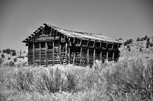 Barn, Black And White, White, Black, Farm, Rural, Wood