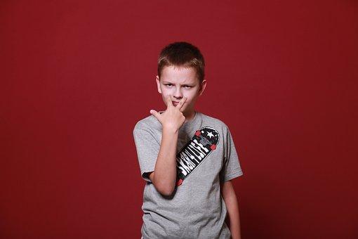 Boy, Teen, Schoolboy, Angry, Threatening, Serious