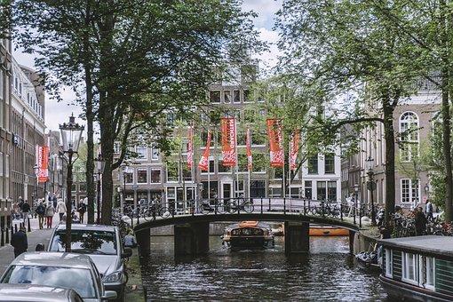 Dutch, Amsterdam, Bridge, City, Urban, Water, Canal