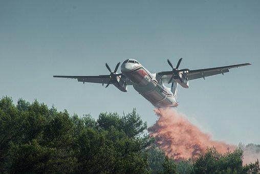 Aircraft, Canadair, Fire, Forest Fire
