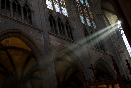 Cathedral, Clermont-ferrand, Light, Catholic, Religious