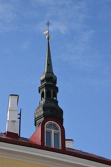 Spire, Church, Tallinn, Baltic, Architecture, Old