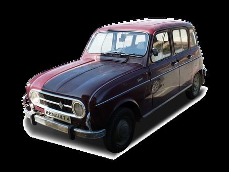 Antique Car, Transparent Background, Cropped Image