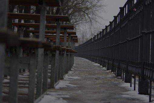Bench, Series, Distance, Macro, City, Wood, Long Way