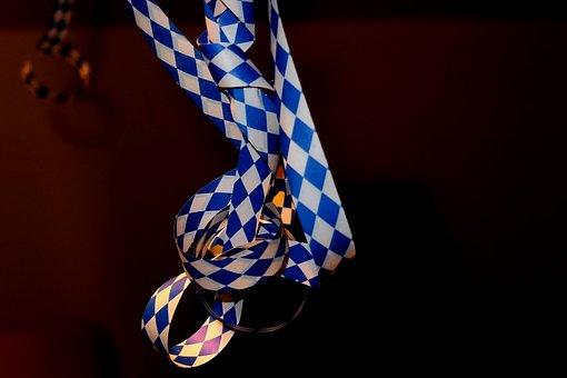 Diamond, Blue And White, Bavaria, Garland, Festival