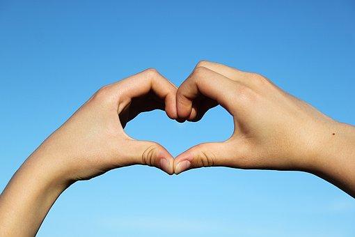 Heart, Hands, Love, Romance, Valentine's Day, Sky