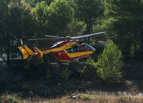 Helicopter, Landing, Fire Department